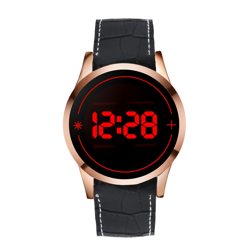 Fashion Men's Watches New LED Digital Touch Screen Day Date Silicone Sport Wrist Watch  relogio masculino Free Shipping#40 popular black skull sports watch silicone bands touch screen led watch women mens free shipping gitt for lovers couple