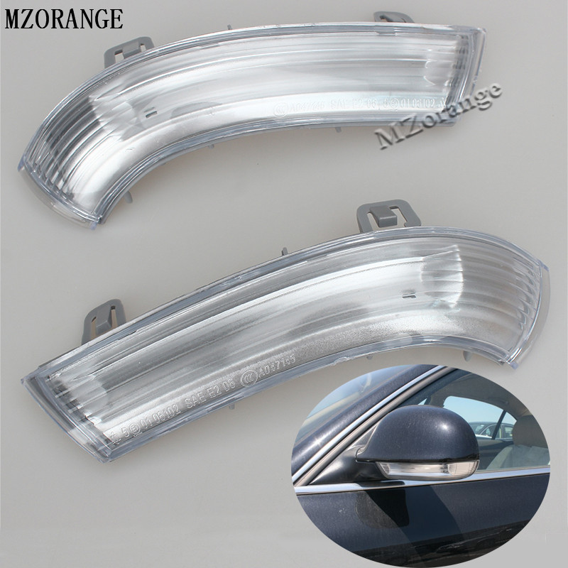 MZORANGE Mirror Side Turn Signals lights For VW Volkswagen Passat B5/B6 GOLF 5/6 V/VI SHARAN JETTA 3/III 1991-2010 Car styling abs mirror cover chrome matt painted cap side mirror housings for volkswagen jetta golf 5 passat b6 ct