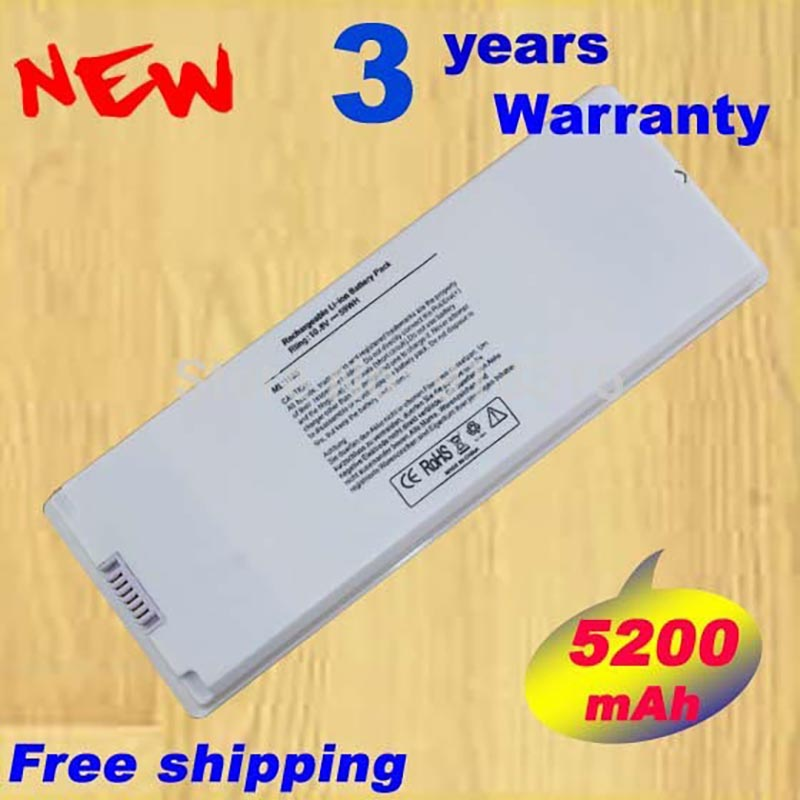 White 59Wh <font><b>Battery</b></font> for <font><b>Apple</b></font> MacBook 13&#8243; <font><b>A1185</b></font> A1181 MA561 MA561FE/A MA561G/A MA254 Free Shipping