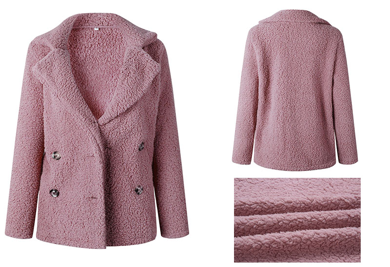 HTB1fGqCboD1gK0jSZFGq6zd3FXa7 Lossky Women Long Sleeve Autumn Winter Thick Warm Jacket Coats Plus Size Loose Button Pocket Pink Lady Plush Flannel Overcoat