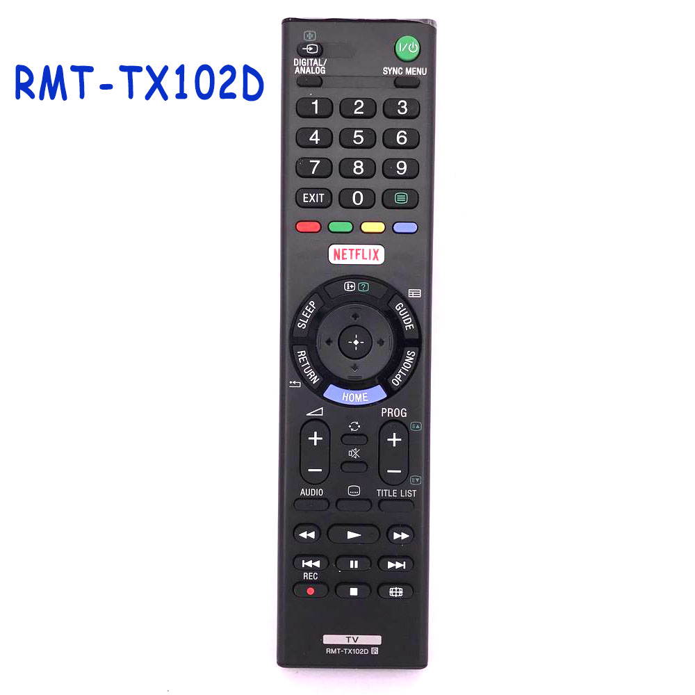New RMT-TX102D Remote Control For Sony RMTTX102D NETFLIX LED LCD Smart TV RMT-TX100U RMT-TX102U Remoto Controle Fernbedienung new original for hisense smart tv remote control er 33911b roh for netflix