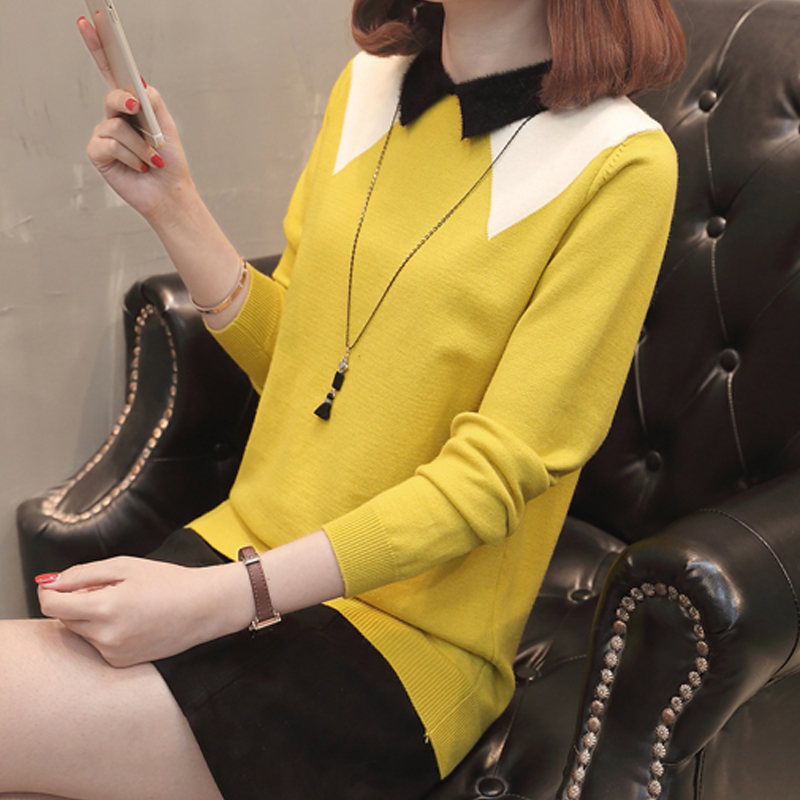 6801 (5 room 4 row No. 2) the new spring sleeved small square collar sweater hedging 50