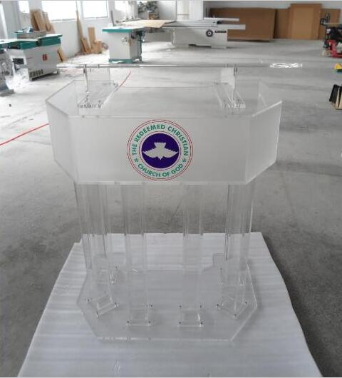 Free Shipping Platform Organic Stage The Speaker's Podium Crystal Reception Desk Acrylic Lectern Reception Church
