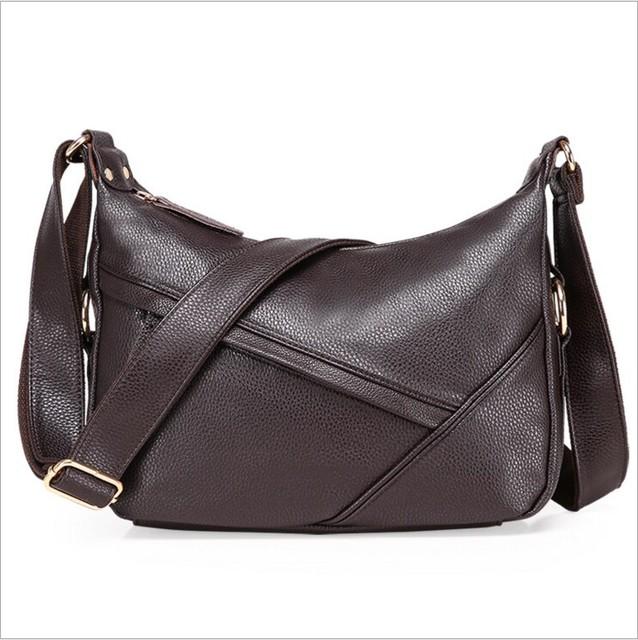 Genuíno corpo cruz de couro sacos de moda ombro mensageiro saco de couro das mulheres de meia idade mãe atmosfera bolsa feminina bolsa de couro macio