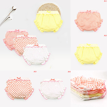 1PC Baby Cotton Trainning Underwear Cute Stripe Dots Ruffle Panties Kids Girl Infant For 0-2T Children Gifts 4 Styles