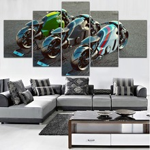 High Quality Canvas Print Painting 5 Piece Style Lotus c-01 Superbike Render Picture Modern Home Decorative Wall Modular Artwork