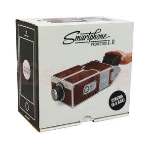 Image 3 - Kostenloser versand Tragbare Karton Smartphone Projektor 2,0/Montiert Telefon Projektor Kino Drop Verschiffen