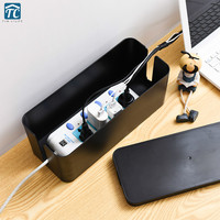 Large Wire Storage Box Power Cord Hub Plug in Board Computer Cable Socket Charger Container Organize Power Strip Collect Cases