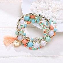 Bohemian Multilayer Candy Color Beads Bracelet