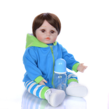 KEIUMI HOT 18 inch Reborn Baby Doll Soft Silicone Body 48 cm Alive Reborn Boneca Collectible Little Man For Boy Kids Playmates