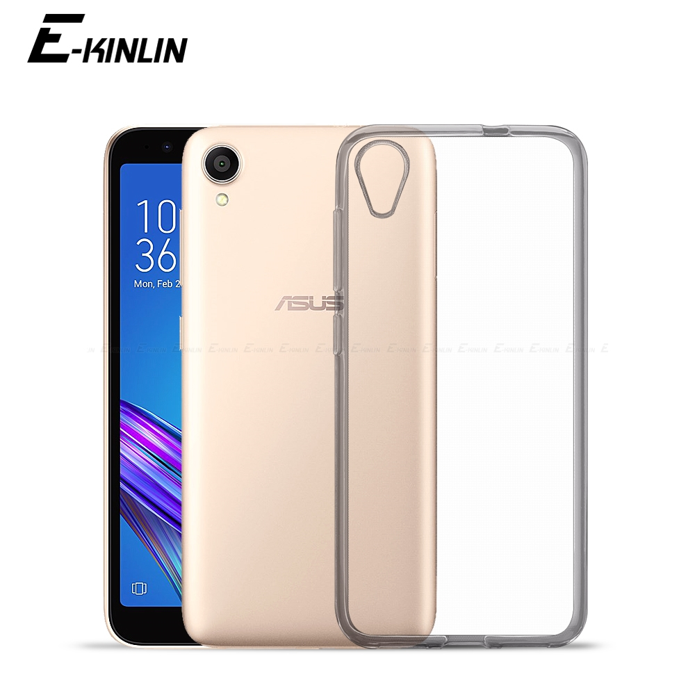 Clear Soft Silicone Back Cover For <font><b>Asus</b></font> ZenFone <font><b>Live</b></font> L1 AR ZA550KL <font><b>G500TG</b></font> ZB553KL ZB501KL ZS571KL Shockproof TPU Phone Case image