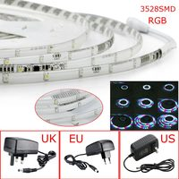 NEW DC 10M 3528 SMD 320LED IP67 Grade Waterproof Rainbow String Light RGB Outdoor LED Strip