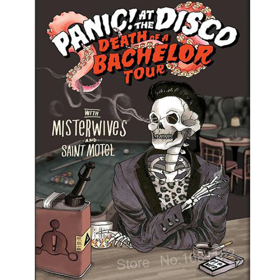 5D,Full,DIY Diamond Painting,Cross Stitch Panic At The Disco Poster-Death Embroidery,square,3D,Mosaic,Needlework,halloween