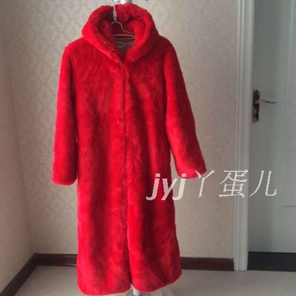 Red Fur Coats Promotion-Shop for Promotional Red Fur Coats on ...