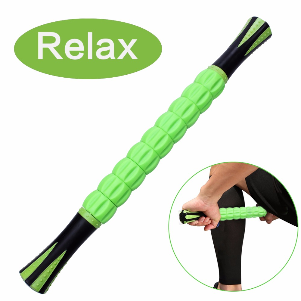 Muscle Roller Stick Full Body Massage Sticks Rollers Pain Cramping Tightness Muscle Relaxing Relief Yoga Fitness Massage Stick trigger point self massage stick body back massager abs unisex pain relief stick relaxing knock hammer green fe 8