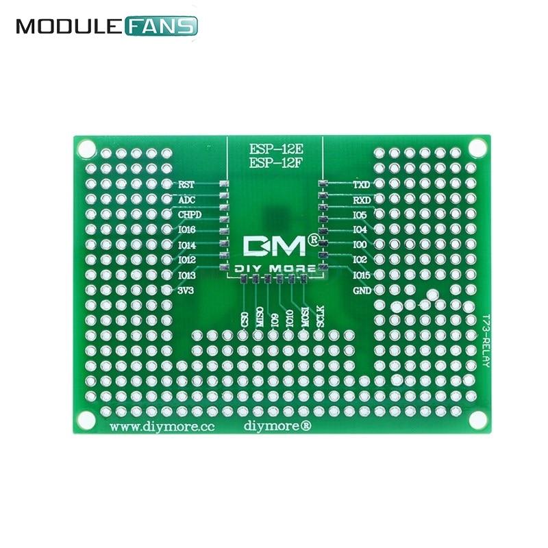 5x7CM 50x70mm Double Side Prototype PCB Board Breadboard Protoshield For Arduino Relay ESP8266 WIFI ESP-12F ESP-12E ESP32 ESP32S