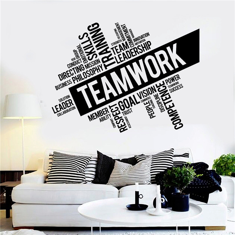 Vinyl Wall Decal Inspirational Teamwork Success Office wall Decor Worker Stickers Study Unique DIY Design