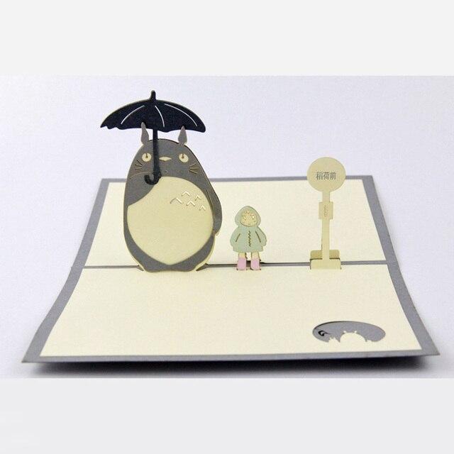 Wholesale Cute Cartoon 3D Pop Up Cards My Neighbor Totoro Best