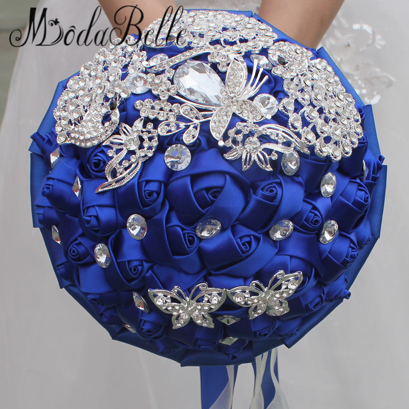 Modabelle Bling Royal Blue Wedding Bouquets Broche Mariage