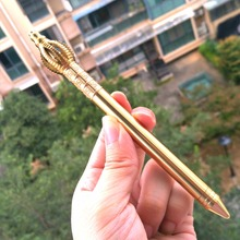 Brass Signature Pen Tang Monk Writing Luxury Pen Hand Made Vajra Copper Pen Caneta De Luxo Pluma Tactical Pen EDC Multi Tools retro brass pen 0 5mm black ink hand made metal pen the tactical pen copper gift pen stylus private outdoor travel kit