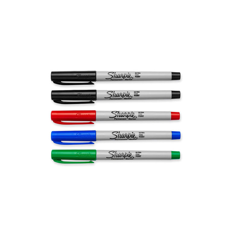 все цены на Sharpie Permanent Markers Extra Fine Point Black/Red/Blue Office School Supplies Stationery