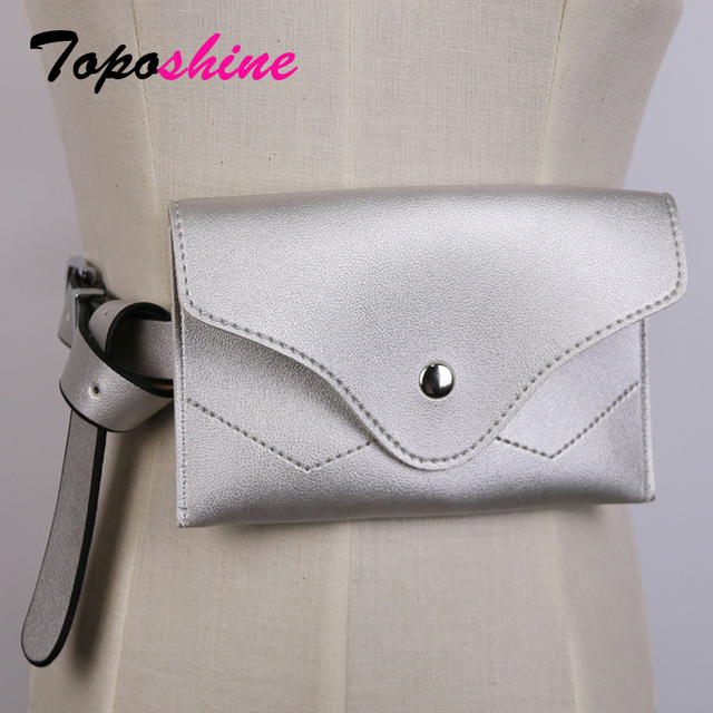 Toposhine Waist Bag Women Waist Fanny Packs Belt Bag Luxury Brand Leather Chest Handbag Red Black Color 2018 New Fashion Bags
