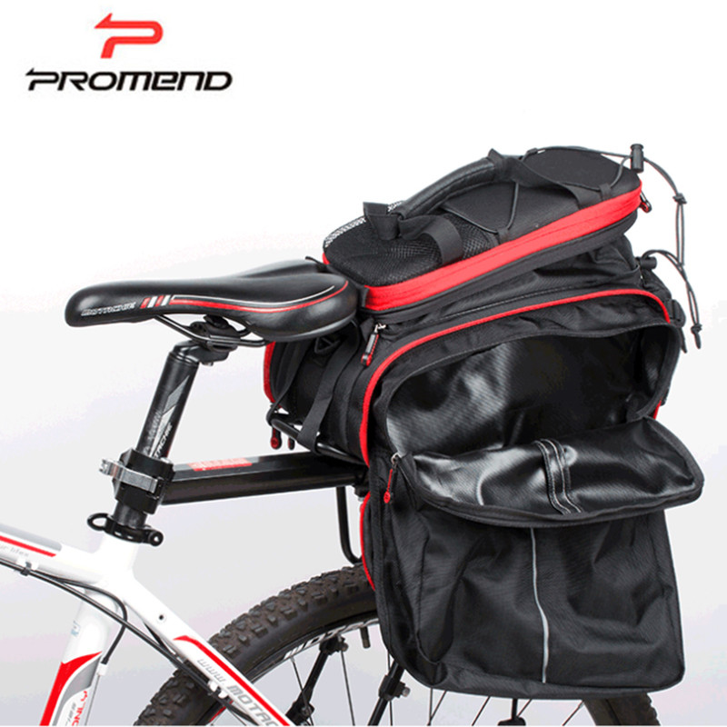 Promend 35L Cycling Bags MTB Bike Rear Rack Bag Multifunction Road Bicycle Tail Pannier Rear Double