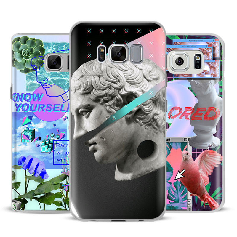 Vaporwave Coque Fashion Phone Case Cover Shell For Samsung Galaxy S4 S5 S6 S7 Edge S8 Pl ...