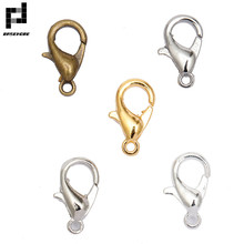 100pcs/set 10/12/14mm Lobster Swivel Clasp For Key Ring Necklace Chain Gold Bronze Silver Plated Alloy Lobster Clasp Hook DIY white hook clasp square neck basic bikini set