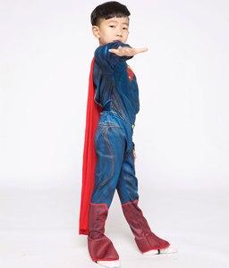 Image 2 - פורים Deluxe שרירים סופרמן תלבושות חג המולד ילדים ילד תחפושות ליל כל הקדושים המפלגה קרנבל Cosplay תלבושות