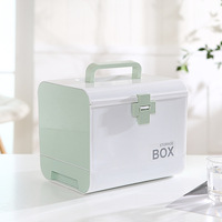 Scandinavian Style Multifunctional Storage Box Multi layer Storage Box Home With Drawer Portable Small Medicine Box Storage Box