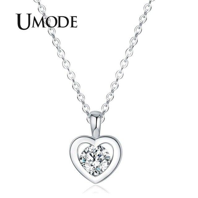 UMODE Long Chain Heart Fashion Pendants & Necklaces Women Jewlery Valentine's day Best Friend collares largos de moda UN0310