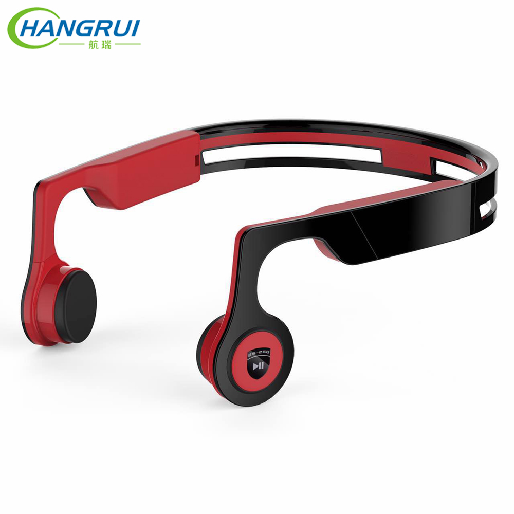 HANGRUI Conduction Osseuse Casque Sans Fil Bluetooth écouteurs 8 gb MP3 Lecteur Soutien APP Contrôle Bandeau Sport Stéréo Casque