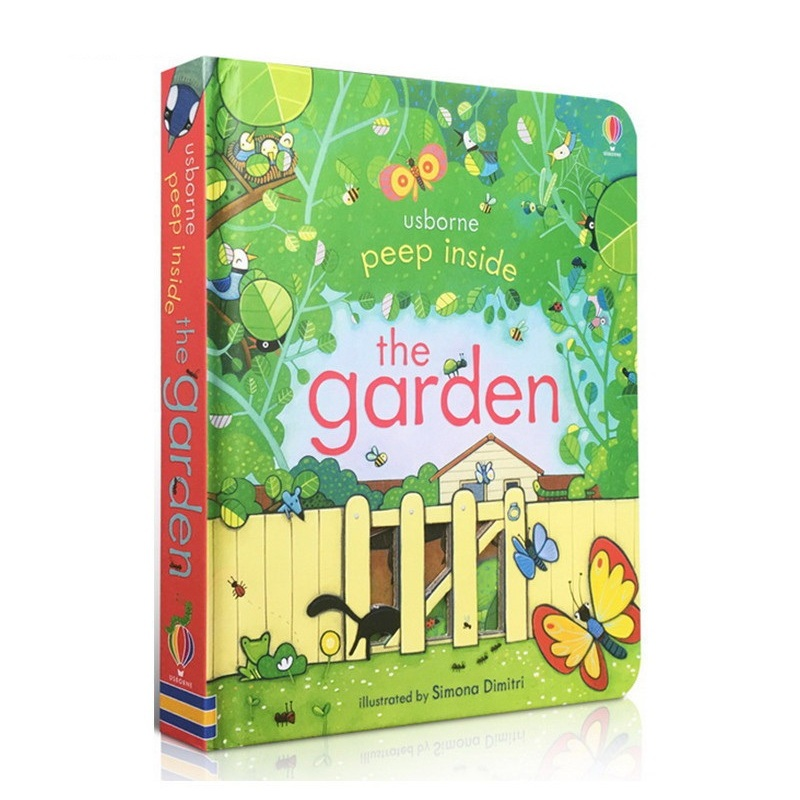 Peep Inside The Garden English Educational 3D Flap Picture Books Baby Children Reading Book