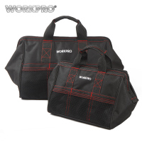 Free Shipping WORKPRO 2 Piece 13 Inch 18 Inch Tool Bag Combo Zip Top Wide Open