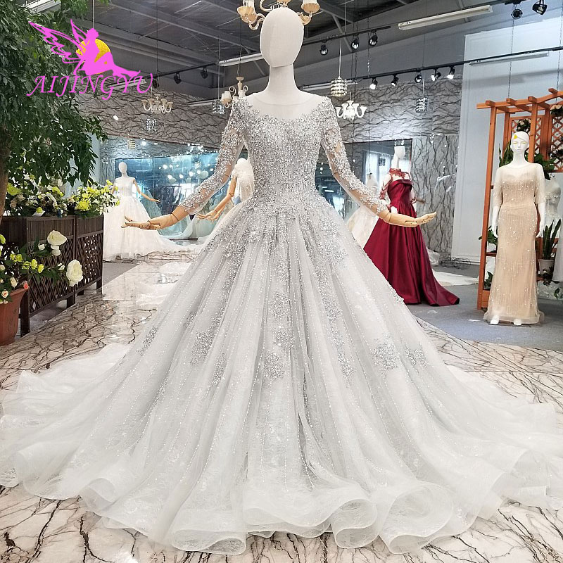 AIJINGYU Indian Gown Bridal Price Laces Dres Styles 3D Simple White Gowns  Plus Size Wedding Branding 061600fd48e1