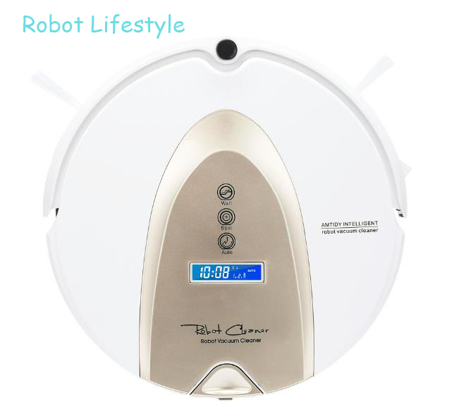 Intelligent Robot Vacuum Cleaner Vacuum with rolling brush,two side brushes and fastest cleaner