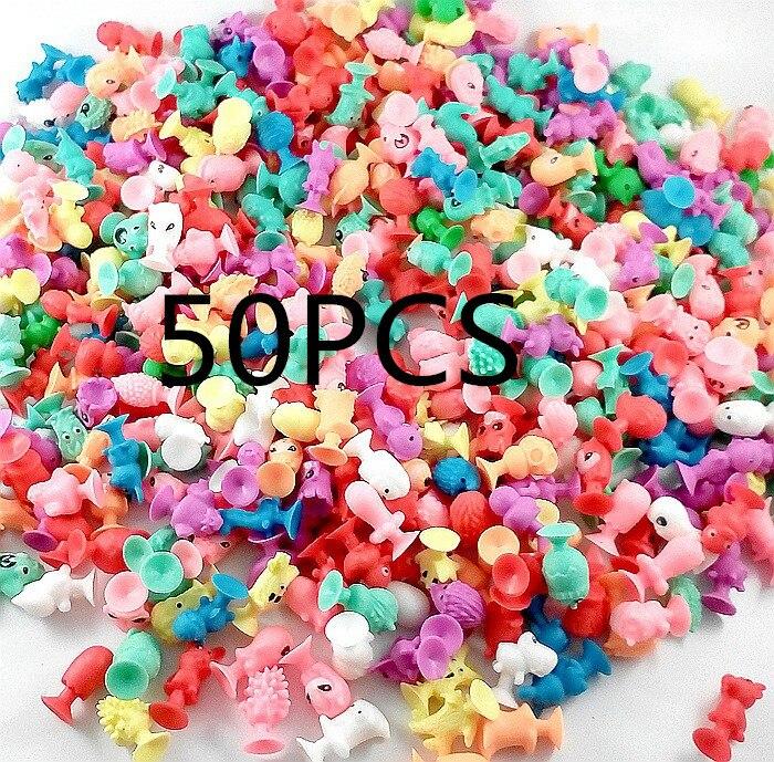 50 PCS bag good Cupule kids Cartoon Animal Action Figures toys Sucker kids Mini Suction Cup