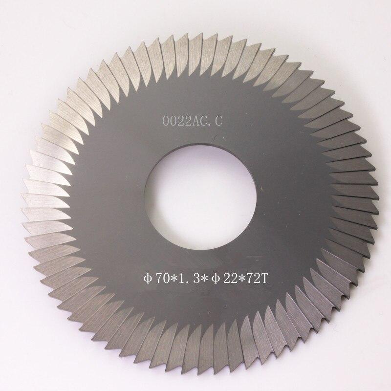 0022ac. C Hartmetall Schlüssel Schneiden Maschine Sägeblatt 70*1,3*22*72 T Seite Fräser Verwendet Für 100d 100e1 100f 100f1 Schlüssel Maschine Stabile Konstruktion
