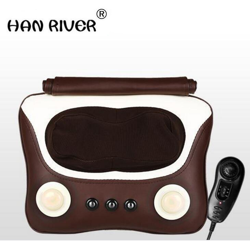 HANRIVER 2018 Household multifunctional cervical lumbar massage neck lumbar back shoulder massage pillow cushion for leaning on цена