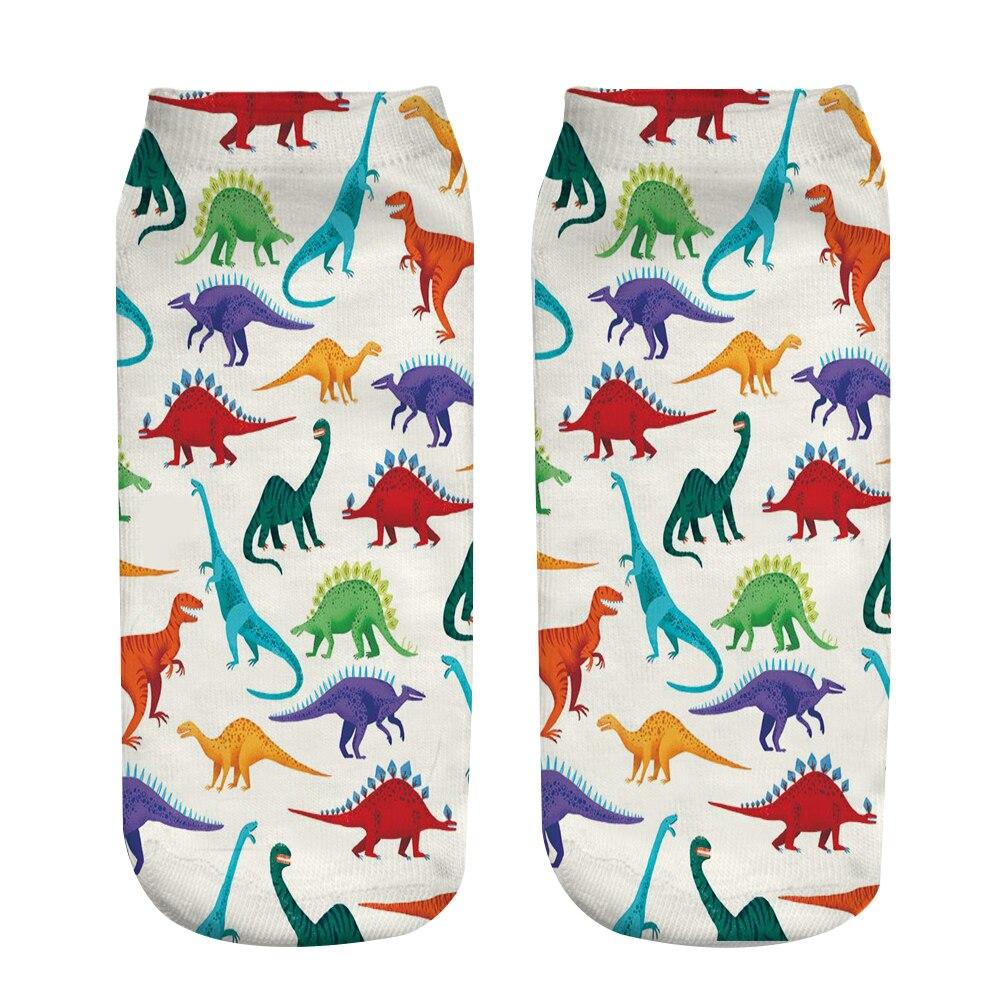 3D Printed Dinosaur Printing Toddlars Cotton Kid Socks Colorful Children Socks HO-KLOSS