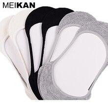 Meikan унисекс женские мужчины loafer носки хлопчатобумажные невидимые нет показать велоспорт носки не скользит лодка тапочки невидимые носки 6 пара/лот