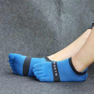 Image 3 - Pure cotton toe socks men mesh breathable five finger sock casual ankle socks new fashion mens five toe sock 6 pairs/lot