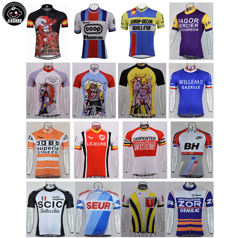 Retro Classical New Real Mountain Road RACE Team Bike Cycling Jersey Tops Breathable Customized Jiashuo Chooses 4 Pockets