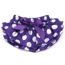 bb9623f99aba Baby Infant Bloomer Pants girls Dots cute stain diaper cover Ruffled ...