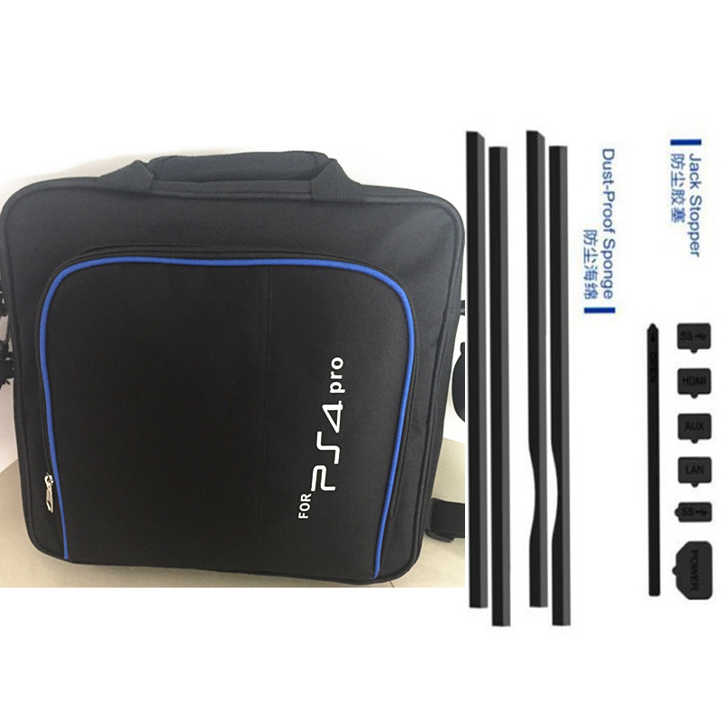 2017 PS4 Pro Game System Bag Travel Storage Carry Case+Dust Proof Pack Kits Mesh Jack Stop For Playstation 4 Pro PS4 PRO Console