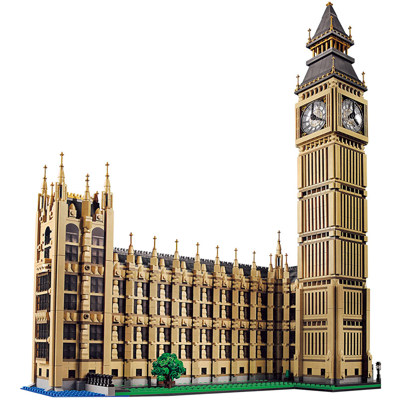 4164pcs Large Building Blocks Compatible legoINGLY 10253 Creator Series Big Ben Elizabeth Tower in London DHL TNT Toys for kid