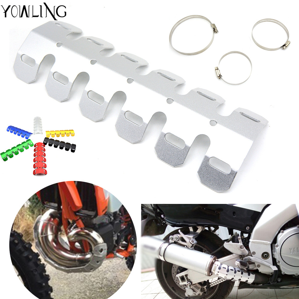 Motorcycle Exhaust Pipe Leg Protector Heat Shield Cover Dirt Bike For KTM 125 200 250 300 350 400 450 500 525 530 EXC EXC-F XC