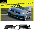 Golf MK6 Grille ABS Car Front Mesh Grill For VW Golf VI MK6 R20 Bumper 2010-2013