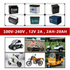 12V 2A Intelligent Car Motorcycle Lead Acid Battery Charger 12 V Volt 3 Stages LCD Display Scooter Motor Mower Auto 10A 12A 20A discount